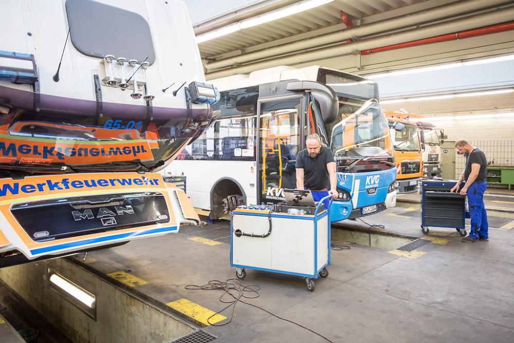 Werkstattservie für Busse